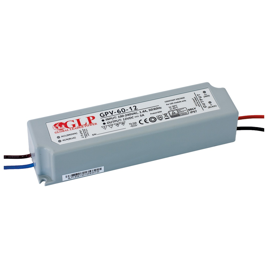 LED-virtalähde 24Vdc/60W IP67